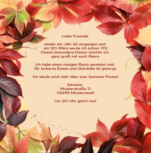 Ansicht 5 - Einladungskarte Blumentraum 70