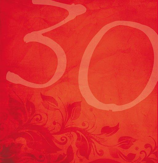 Ansicht 6 - Geburtstagskarte floral verspielt 30 Foto