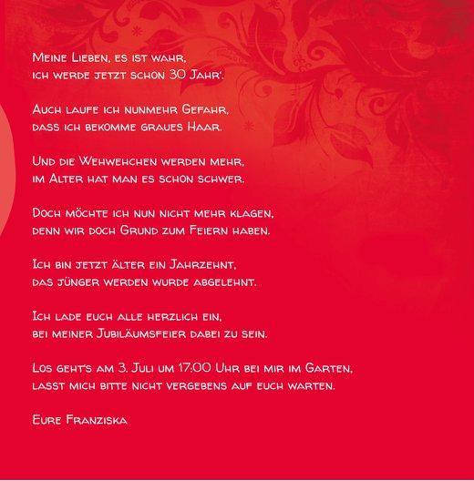Ansicht 7 - Geburtstagskarte floral verspielt 30 Foto