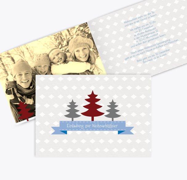 Foto Einladung Tannenbaum Banner