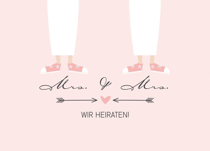 Ansicht 2 - Antwortkarte Pärchen - Frauen