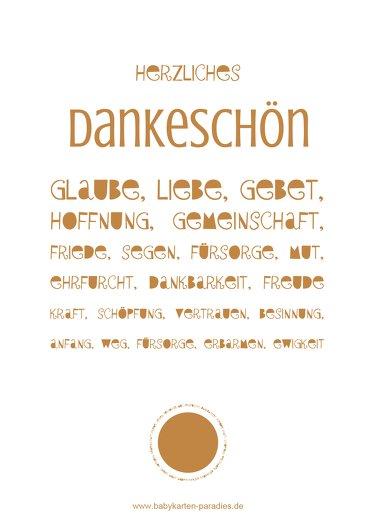 Ansicht 2 - Konfirmation Danke Spruchkreis