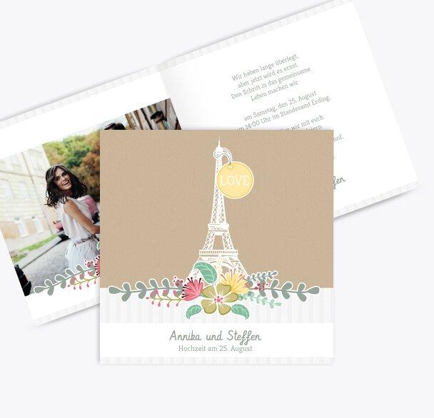 Hochzeit Einladung Paris