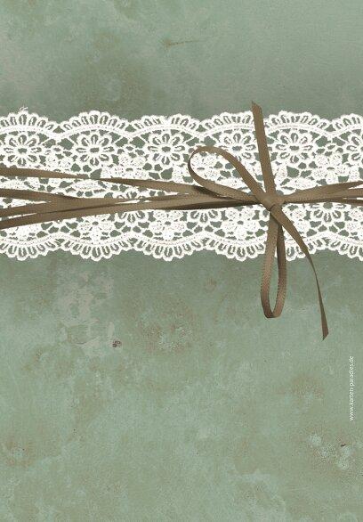 Ansicht 2 - Hochzeit Menükarte Vintage Lace