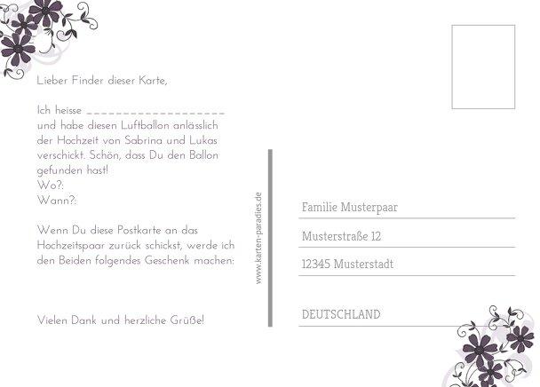Ansicht 3 - Hochzeit Ballonkarte Ranke