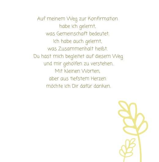 Ansicht 5 - Konfirmation Dankeskarte Gräser