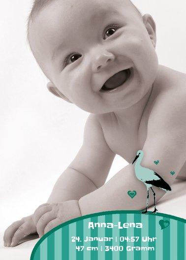 Ansicht 2 - Babykarte Harmonie