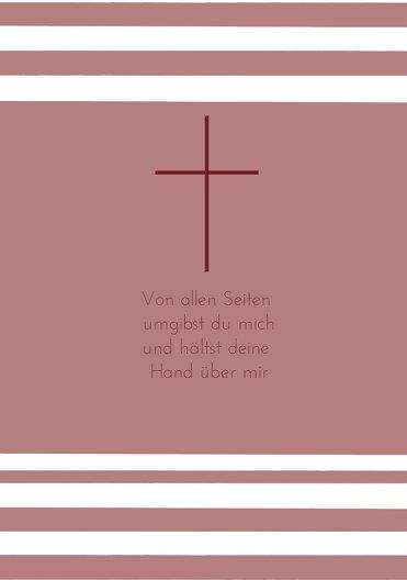 Ansicht 4 - Einladungskarte zur Konfirmation Kreuz