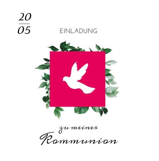 Ansicht 3 - Kommunion Einladung Täubchen