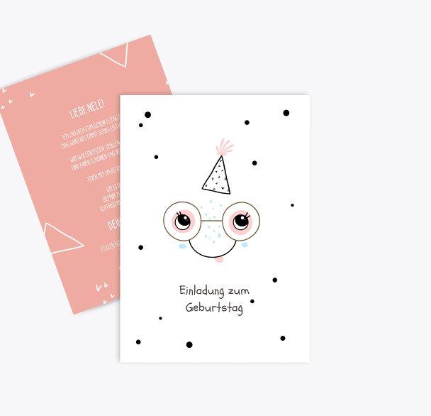 Einladung Kindergeburtstag Happy smile
