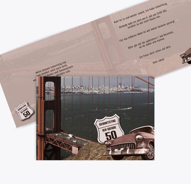 Geburtstagskarte old bridge 50