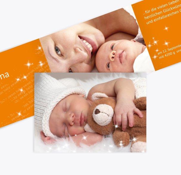 Baby Dankeskarte Star
