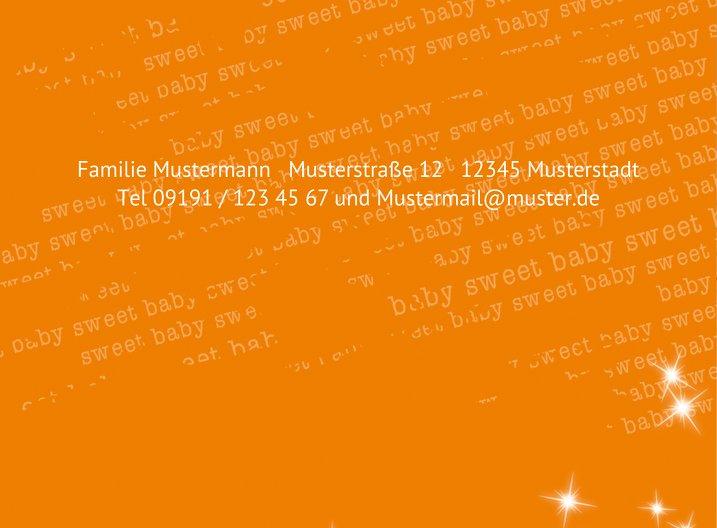 Ansicht 3 - Baby Dankeskarte Star