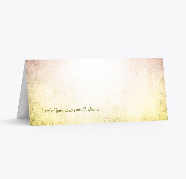 Tischkarte Kommunion grunge Engel