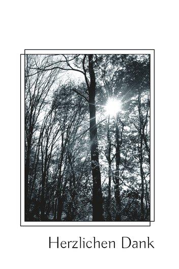 Ansicht 3 - Dankeskarte Wald