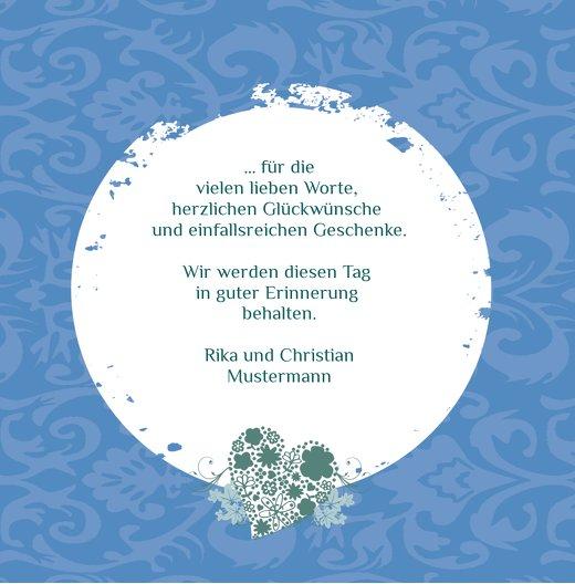 Ansicht 7 - Tauf Dankeskarte Kreise
