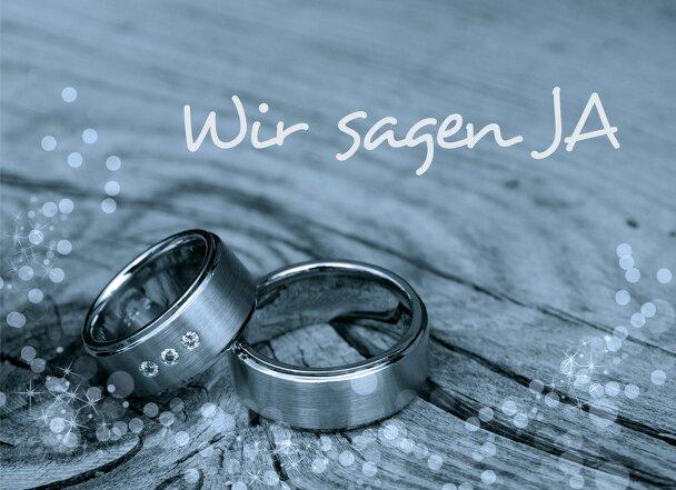 Ansicht 3 - Hochzeit Einladungskarte Eheringe