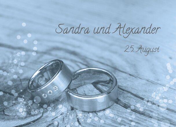 Ansicht 4 - Hochzeit Einladungskarte Eheringe