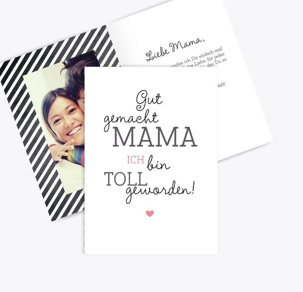 Muttertagskarte Gut gemacht