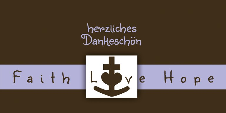 Ansicht 3 - Tauf Dankeskarte faith love hope