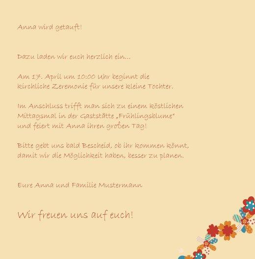 Ansicht 5 - Taufkarte Blumenband