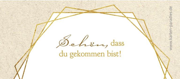 Ansicht 2 - Kommunion Tischkarte Goldrausch