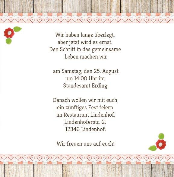 Ansicht 5 - Hochzeit Einladung München