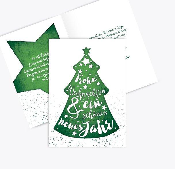 Weihnachtsgrußkarte Letterbaum