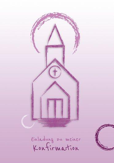 Ansicht 3 - Einladung zur Konfirmation Kirche