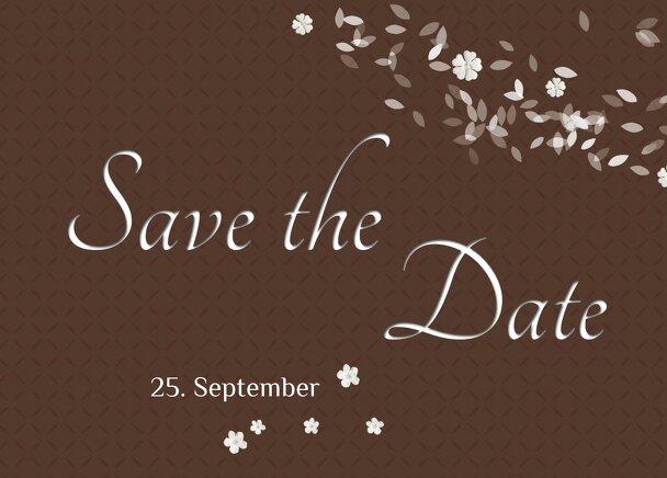 Ansicht 2 - Hochzeit Save the Date romantic flower