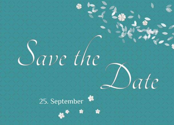 Ansicht 2 - Hochzeit Save the Date romantic flower