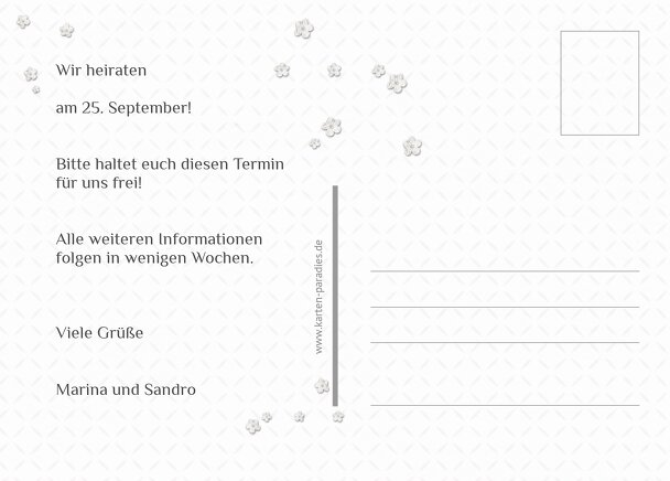 Ansicht 3 - Hochzeit Save the Date romantic flower