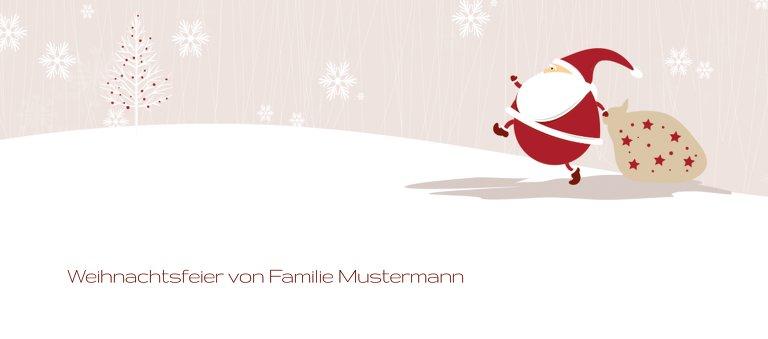 Ansicht 3 - Tischkarte Weihnachtsmann