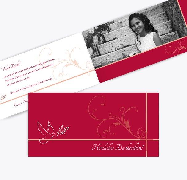 Firmung Dankeskarte floral