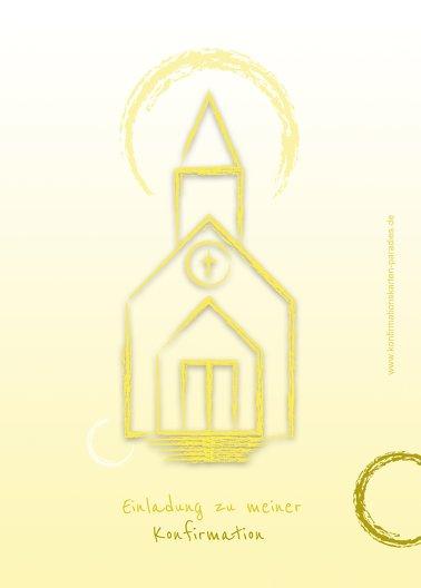 Ansicht 2 - Einladung zur Konfirmation Kirche