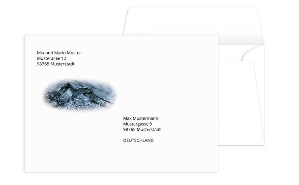 Umschlag Eheringe
