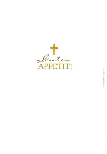 Ansicht 2 - Taufe Menükarte Goldrausch