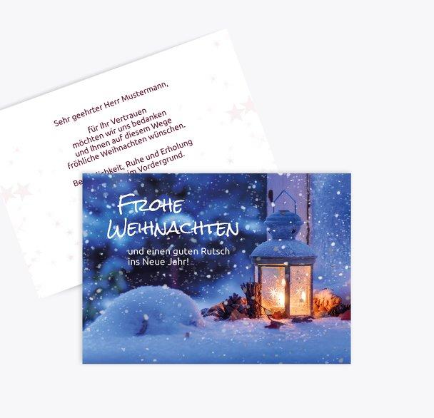Weihnachten Grußkarte Laterne