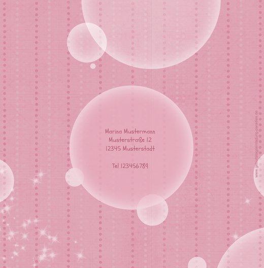 Ansicht 2 - Einladungskarte magic bubbles Foto