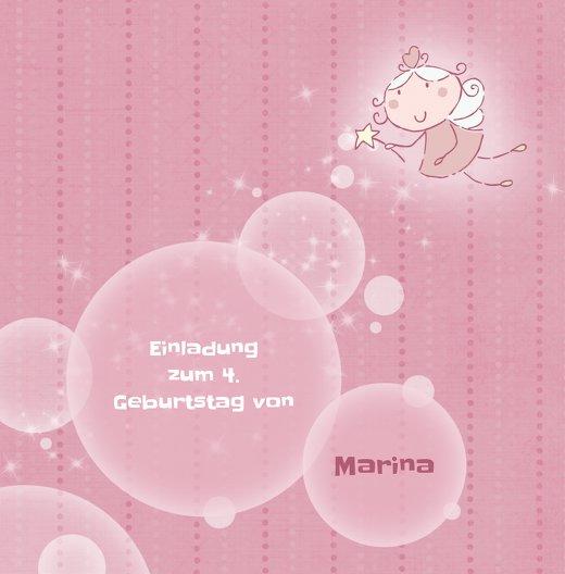 Ansicht 3 - Einladungskarte magic bubbles Foto