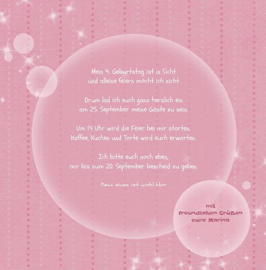 Ansicht 5 - Einladungskarte magic bubbles Foto
