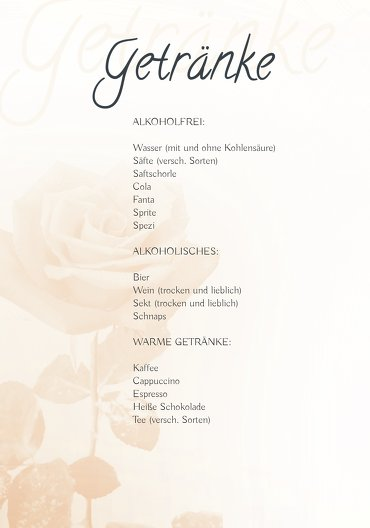 Ansicht 4 - Hochzeit Menükarte Rose