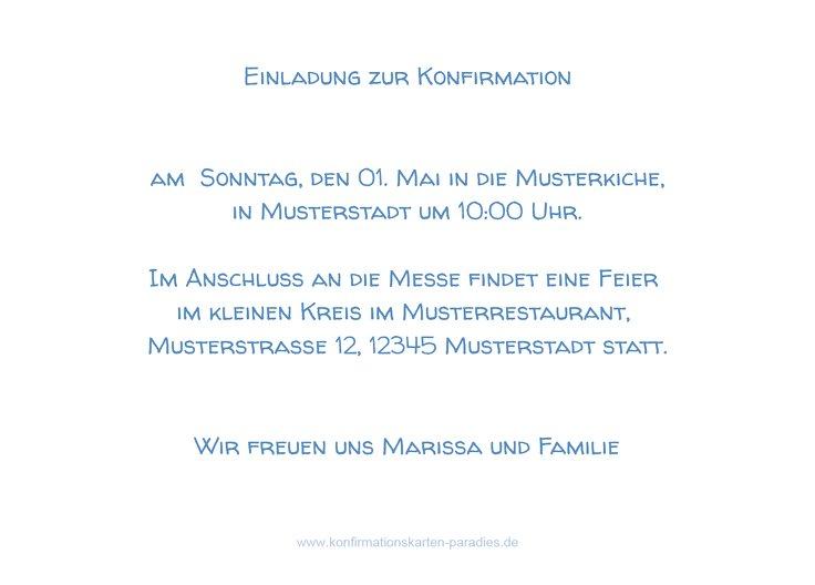 Ansicht 3 - Einladungskarte zur Konfirmation Script