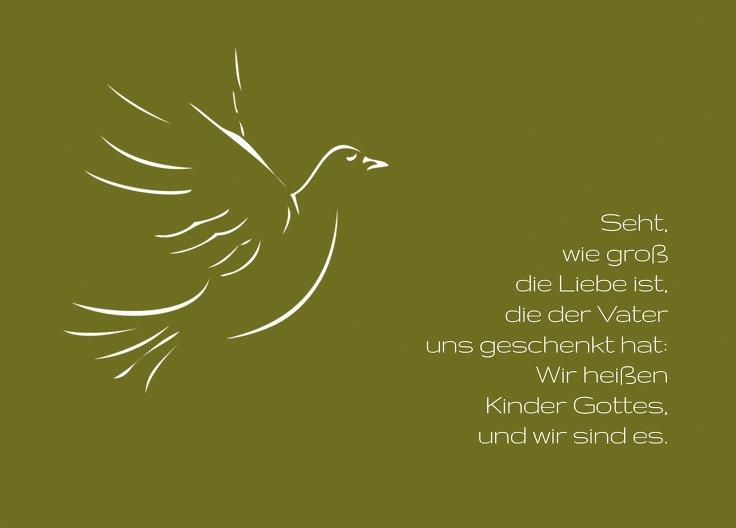 Ansicht 2 - Kommunionskarte Pigeon