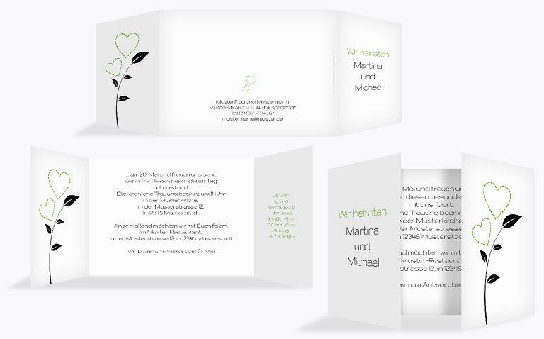 Hochzeit Einladung Herzblume