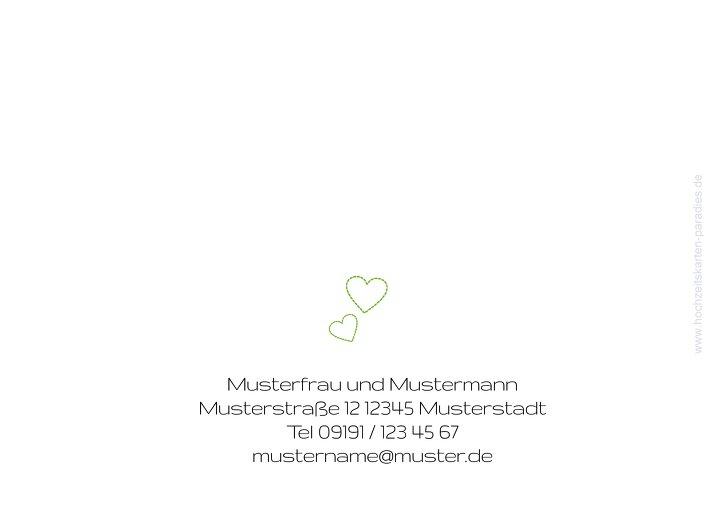 Ansicht 3 - Hochzeit Einladung Herzblume