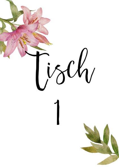 Ansicht 2 - Tischnummern Blumendeko