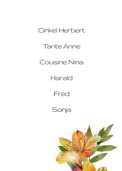Ansicht 3 - Tischnummern Blumendeko