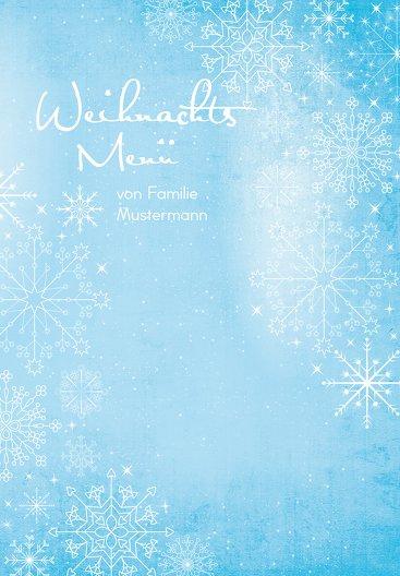 Ansicht 3 - Menükarte Wintertraum
