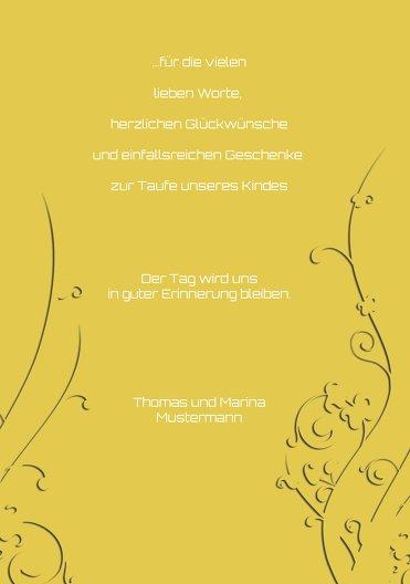 Ansicht 5 - Taufe Dankeskarte Florale Schnörkel 2